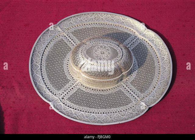 Aufwendige verzierte Silber, Indien, Asien Stockbild
