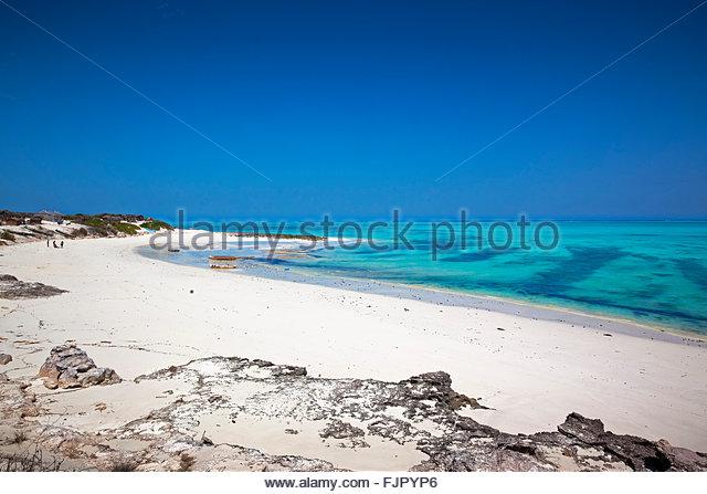 Strand mit türkisfarbenem Wasser, Westküste, Madagaskar Stockbild