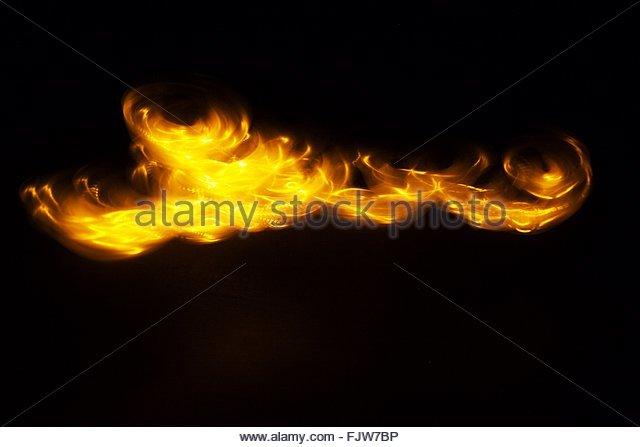 Blick auf Feuer Stockbild