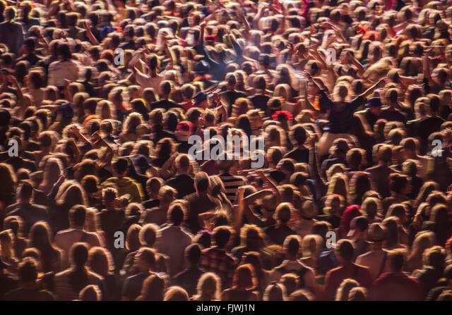 Full-Frame-Schuss von Menschen bei Musik-Event Stockbild