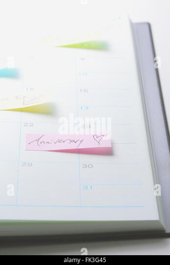 Post-It-Zettel auf einem notebook Stockbild