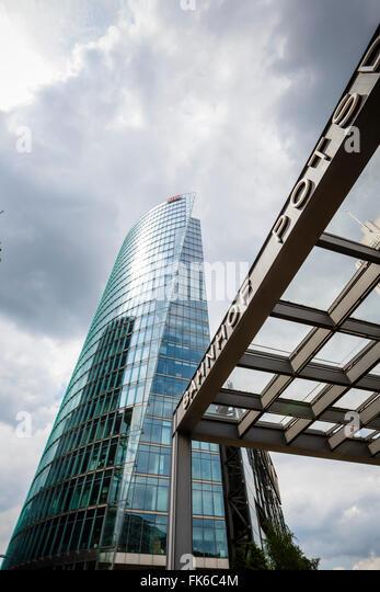 Deutsche Bahn (Deutsche Bahn) zentrale Gebäude am Potsdamer Platz, Mitte, Berlin, Deutschland, Europa Stockbild