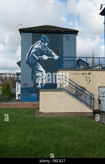 Republikanische Wandbild Bogside Derry Londonderry-Nordirland Stockbild