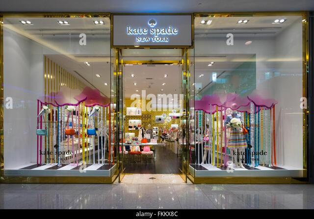 Kate Spade Modegeschäft in Dubai Mall Dubai Vereinigte Arabische Emirate Stockbild