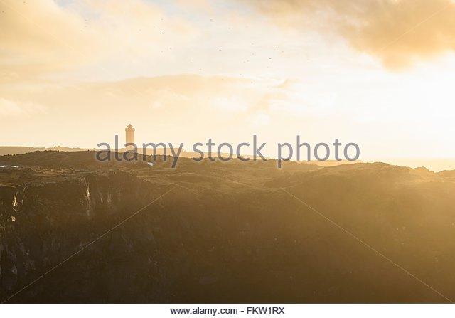Snaefellsnes Halbinsel bei Sonnenuntergang Stockbild