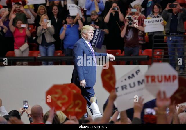 Republikanische Präsidentschaftskandidat Donald Trump Kampagne Rallye im South Point Arena & Casino in Stockbild