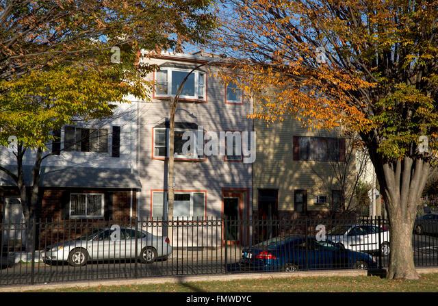 Wohngegend, East Boston, Massachusetts, USA Stockbild