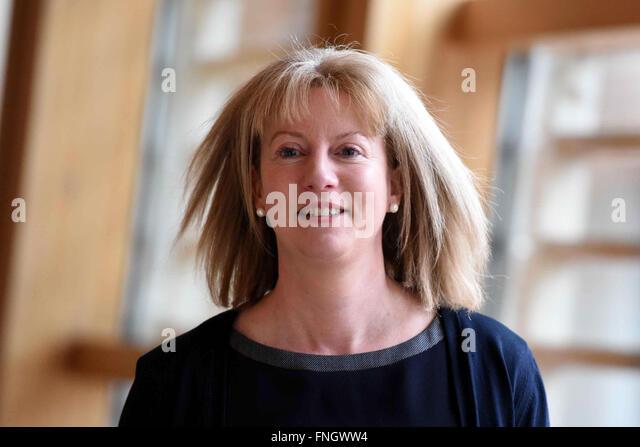Edinburgh, Schottland, Vereinigtes Königreich, 25. Februar 2016. Scottish-Schrank-Sekretärin für Stockbild