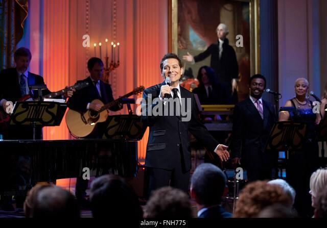 Michael Feinstein führt während der Burt Bacharach & Hal David: die Bibliothek von Congress Gershwin Stockbild