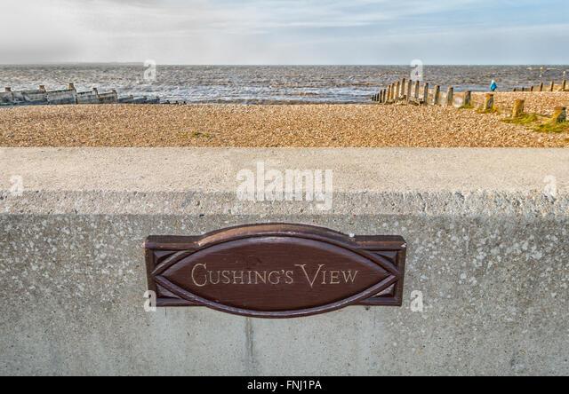 Peter Cushings Schauspieler Peter Cushing bevorzugten Ansicht in Whitstable Kent Stockbild