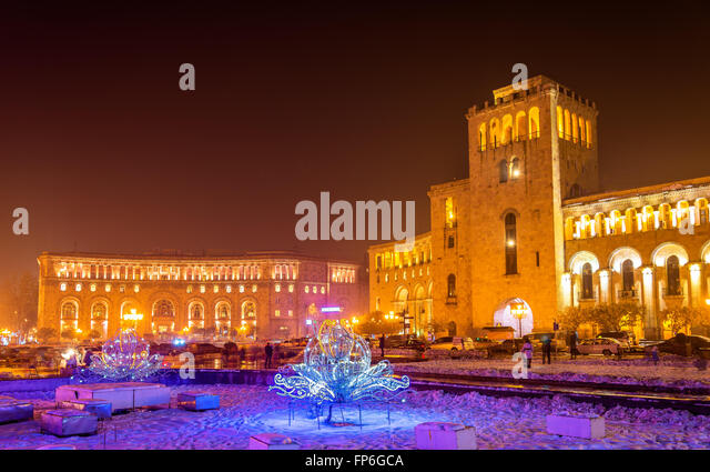 yerevan republic square stockfotos yerevan republic. Black Bedroom Furniture Sets. Home Design Ideas