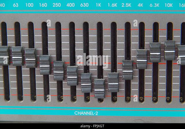 Die alten Versionen im Leerlauf Grafik-equalizer Stockbild