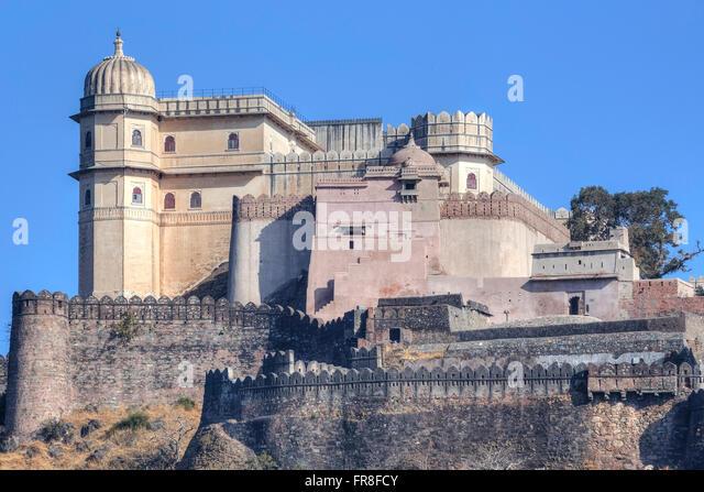 Kumbhalgarh Fort, Mewar, Rajsamand, Rajasthan, Indien, Asien - Stock-Bilder