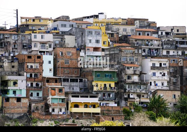 Bezahlbarer Wohnraum in Stadtquartier gesehen Stockbild