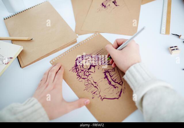 Zeichnung Mädchen Stockbild
