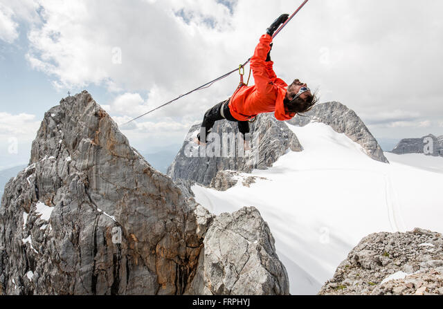 Alpine Highline-Projekt Stockbild