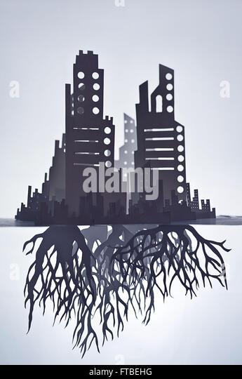 Wurzeln der Städte © Tom Waits Stockbild