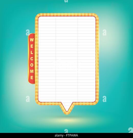 Vektor-Retro-Plakatwand, hellen Schild, leichte Banner. Vektor-Illustration. Stockbild