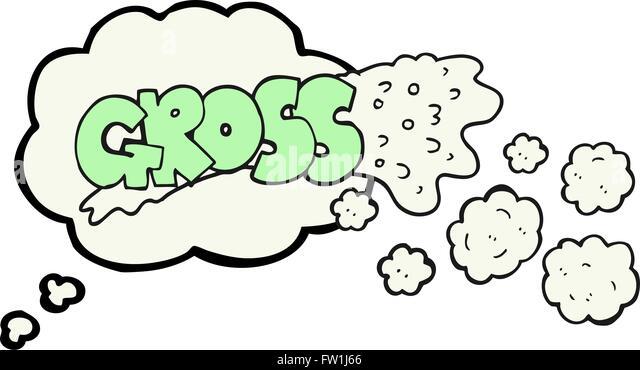 grobe Freihand gezeichnete Gedanken Bubble cartoon Stockbild