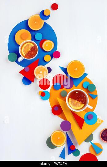 Suprematistischen Teeparty Stockbild