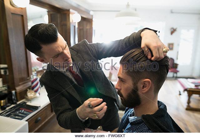 Friseur-Styling-Mann Stockbild