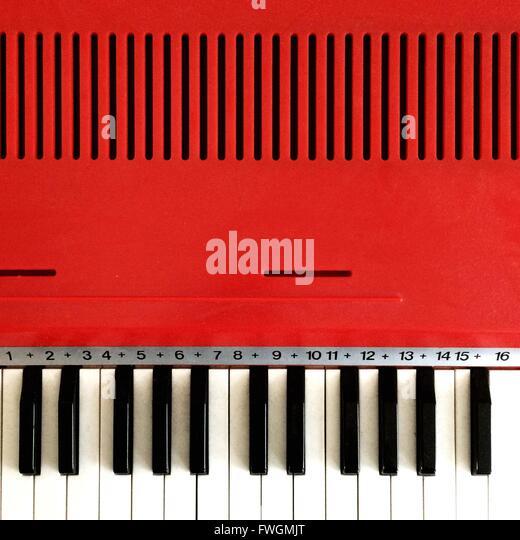 Nahaufnahme des Klaviers Stockbild