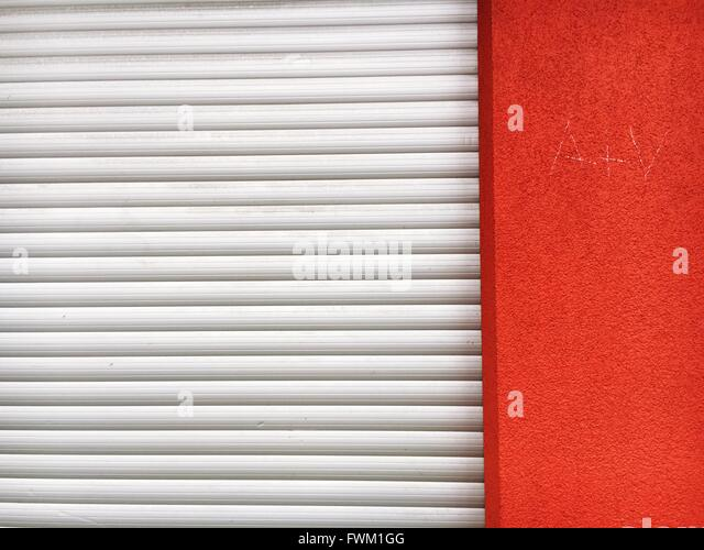 Außenseite des Closed Shop Stockbild
