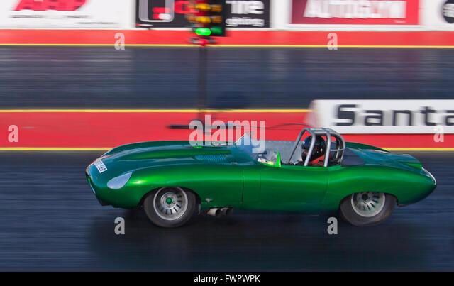 Pro ET Dragracing auf dem Santa Pod Raceway angetrieben von Leigh Morris. Stockbild