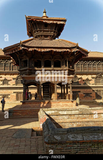 Stadt Welt Kulturerbe UNESCO Bhaktapur Durbar Square, Kathmandu-Tal, Nepal Stockbild