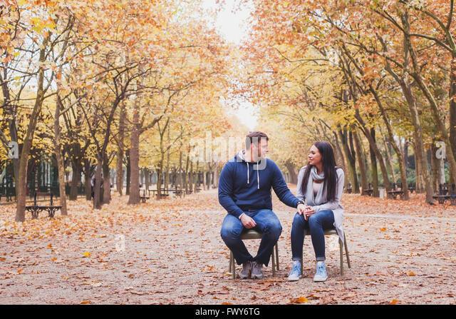 Mann und Frau-Beziehung, Familie Psychologie Konzept, Liebe und dating Stockbild