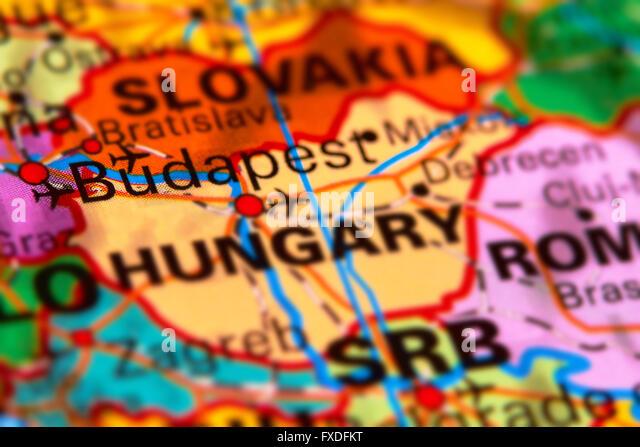budapest map stockfotos budapest map bilder alamy. Black Bedroom Furniture Sets. Home Design Ideas