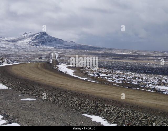 Mount Challenger von der Stanley-Straße Stockbild