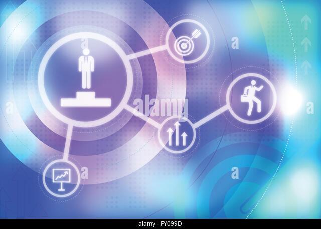 Anschauliches Bild der Business Target, Wettbewerb, Anreiz und Finanzierung Stockbild