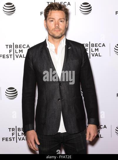 New York City, USA - 24. April 2016: Schauspieler Chris Meyer besucht die fast Paris Premiere beim Tribeca Film Stockbild