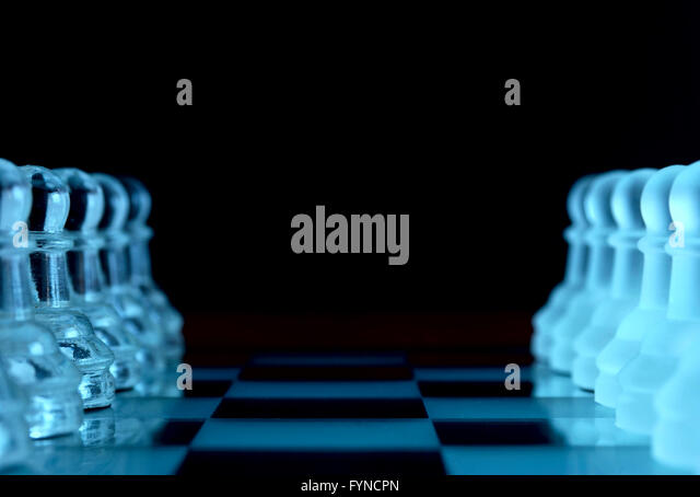 Schachfiguren Stockbild