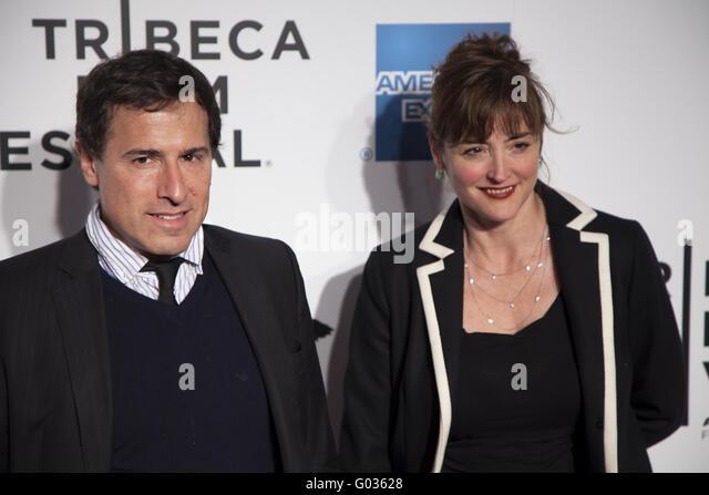 David O Russell und Frau bei der Weltpremiere von The Union Stockbild