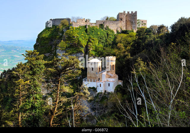 erice castle stockfotos erice castle bilder alamy. Black Bedroom Furniture Sets. Home Design Ideas