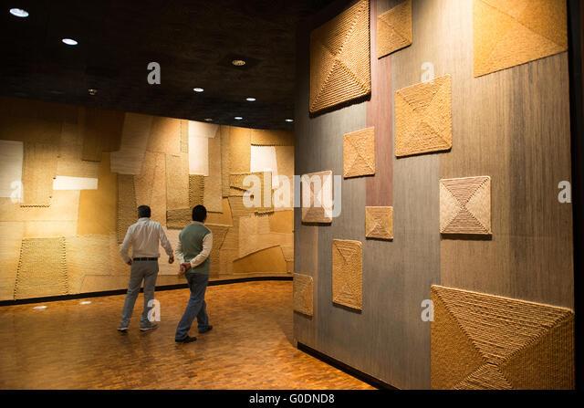 Mexiko-Stadt, Mexiko - The National Museum of Anthropology Vitrinen bedeutende archäologische und anthropologische Stockbild
