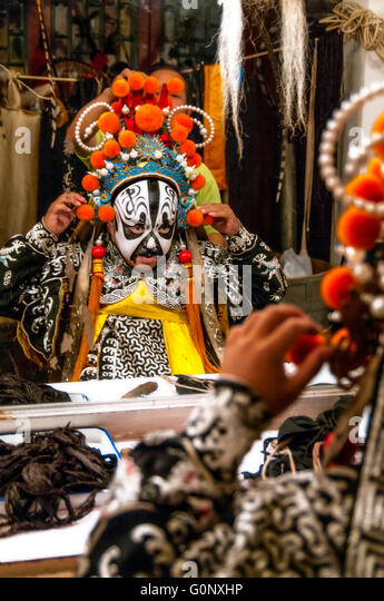 Peking-Oper-Darsteller. Beijing. China. Stockbild