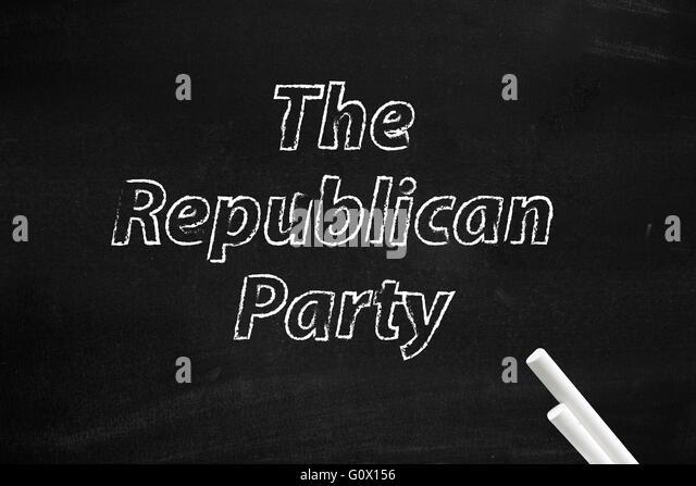 Die republikanische Partei geschrieben an Bord Stockbild