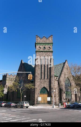 Greenwood Baptist Church, 7th Avenue, Brooklyn, New York, USA Stockbild