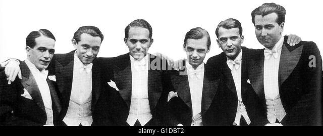 Comedian Harmonists / Harry Frommermann / Roman Josef Cycowski / Robert Biberti / Erich A. Collin / Ari Leschnikoff Stockbild