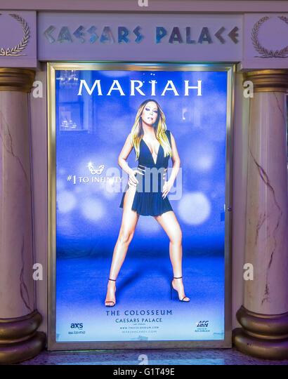 "Mariah Carey ""MARIAH 1 TO INFINITY"" Plakat in Las Vegas Stockbild"