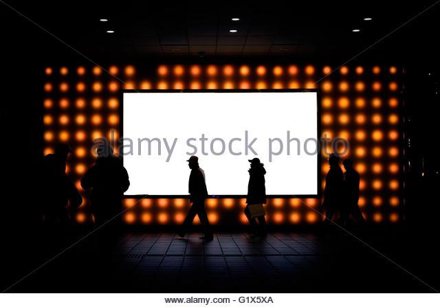 Werben Sie mit Menschen silhouette - Stock-Bilder