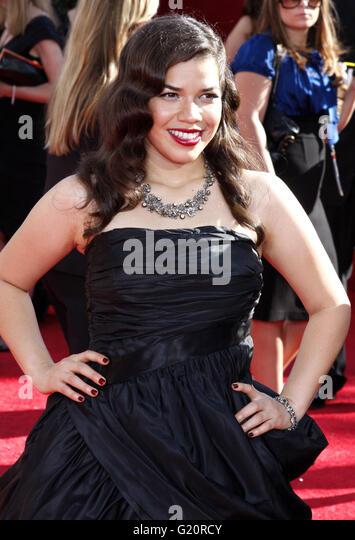 America Ferrera auf der 60. Primetime EMMY Awards im Nokia Theater in Los Angeles, California, USA am Septemb Kredit Stockbild