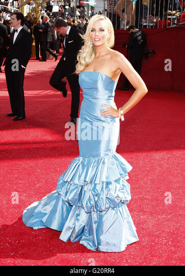 MAVRIXPHOTO.COM Hannah Cornett auf der 60. Primetime Emmy Awards im Nokia Theater in Los Angeles, Kalifornien, Vereinigte Stockbild