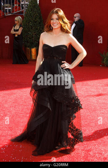 MAVRIXPHOTO.COM Debra Messing an der 60th Primetime Emmy Awards statt im Nokia Theater in Los Angeles, Kalifornien, Stockbild