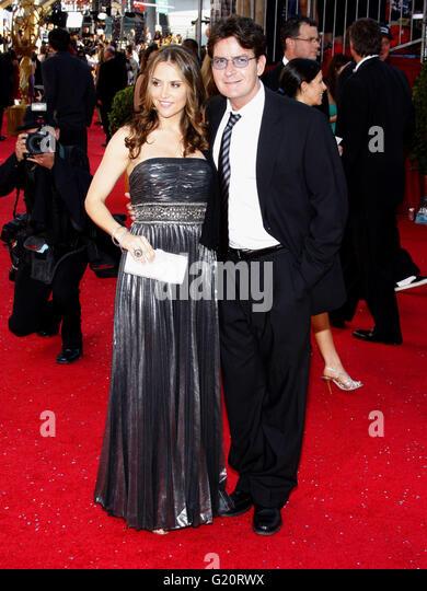 MAVRIXPHOTO.COM Charlie Sheen auf der 60. Primetime Emmy Awards im Nokia Theater in Los Angeles, Kalifornien, Vereinigte Stockbild