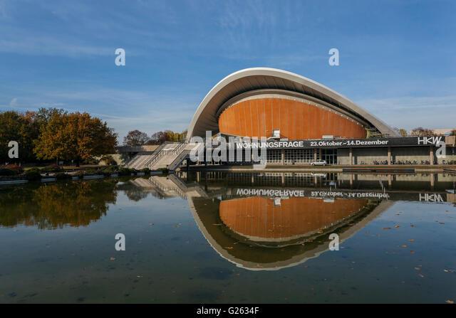Haus der Kulturen der Welt, Haus der Kulturen der Welt, Großer Tiergarten, Architekt Hugh Stubbins, 1957, Berlin Stockbild