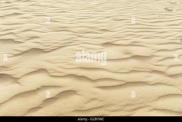 Textur von einer Wüste Sand Dune-Nahaufnahme Stockbild